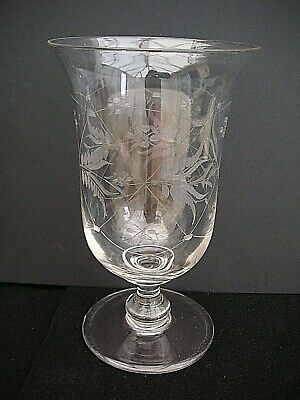 Victorian Etched Clear Glass  Celery Vase Lovely Pattern  • 22.99£