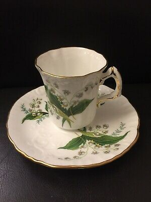 Vintage Hammersley Lily Of The Valley Bone China Coffee Cup & Saucer Rare • 2.70£