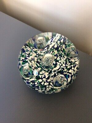 Vintage, Labelled 'Strathearn' Multi Coloured Abstract Glass Paperweight VGC • 6.99£