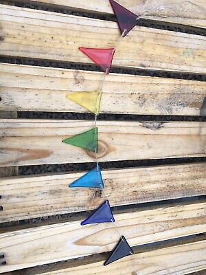 Rainbow Fused Glass Bunting 2m Long • 19.50£