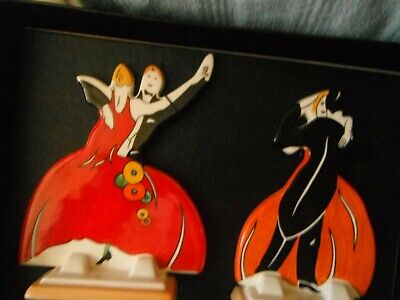 CLARICE CLIFF   AGE Of JAZZ   TWIN DANCERS  By WEDGWOOD -  MINT/CERT/BOXED • 95£
