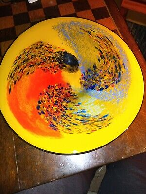Large Art Glass Charger/Plate/Bowl Signed Paul? • 8.90£