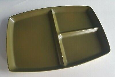 Vintage C.1950s Carlton Ware Green Sectioned Serving Dish - Mid Century Modern • 12£