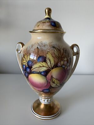 Aynsley Bone China Cottage Orchard Gold Lidded Urn 6inches • 11.50£