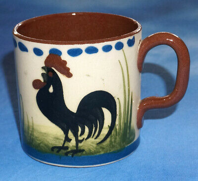 Torquay Pottery Devon Ware Longpark Cockerel MUG - Good Girl • 7.50£