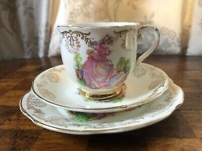 Vintage Lubern 22kt Gold, Trio (cup,saucer And Tea Plate) • 15£