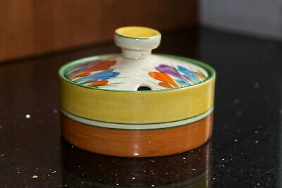Clarice Cliff Crocus Pattern Bowl And Lid • 42£