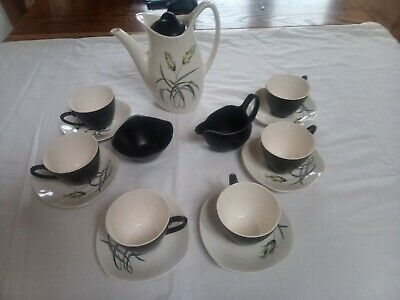 Midwinter Stylecraft Fashion Shape Coffee Set Bali Hai Pattern Nigel Russell.  • 20£