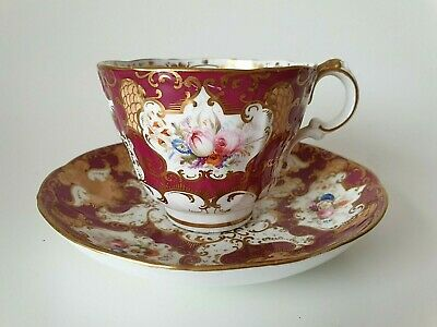 Antique Samuel Alcock English Porcelain Tea Cup And Saucer  • 99£