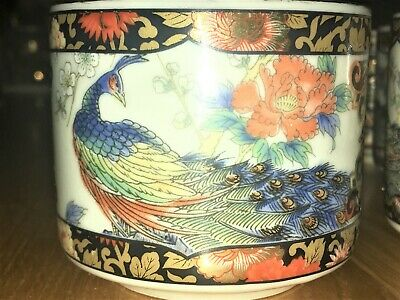 ROYAL PEACOCK Set Of 6 Vintage Traditional Japanese Cups. • 9.99£