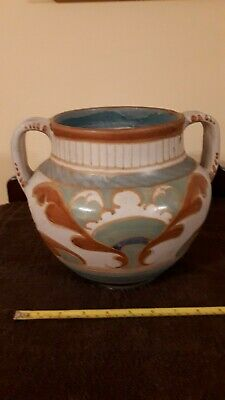 Large Art Deco Collard Honiton Devon Pottery Urn • 29.99£