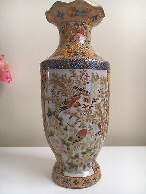 Beautiful Unmarked Ceramic Porcelain Hand Painted Vase • 19.99£