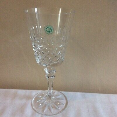 Galway Rathmore Crystal Wine Glass Etched With Original Label 20 Cm • 16.50£