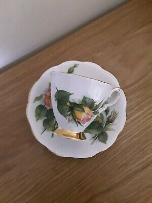 Rare Royal Standard China Coffee Cup & Saucer Peace Harry Wheatcroft Rose Gold ! • 4.99£