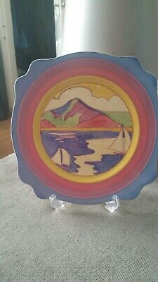 Clarice Cliff Pottery 10.5 Inch Leda Plate.Gibraltar Pattern 1932 Reduced • 399£