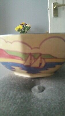 Clarice Cliff 7 Inch Octagonal Bowl.Gibraltar Pattern 1932 Reduced • 399£