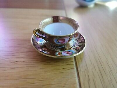 Miniature Antique Crown Staffordshire China Cup And Saucer • 10£