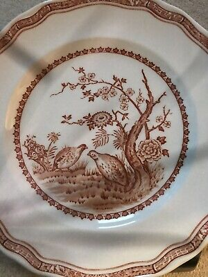 Furnivals Brown Quail - Side Plates - Set Of 8 • 50£