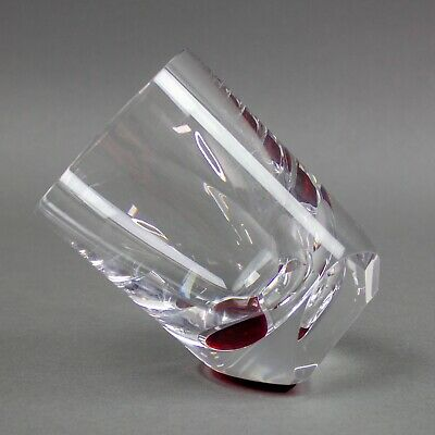 Baccarat Crystal Thomas Bastide Projection Red Old Fashioned Glass Tumbler • 256£