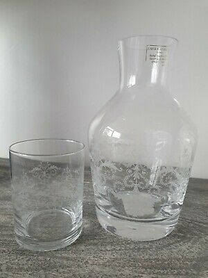 Laura Ashley Damask Printed Glass Carafe And Matching Tumbler • 21£