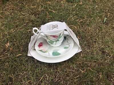 Roy Kirkham Fine Bone China  Redoute Roses  Trio Set Cup & Saucer, Plate New • 9.99£