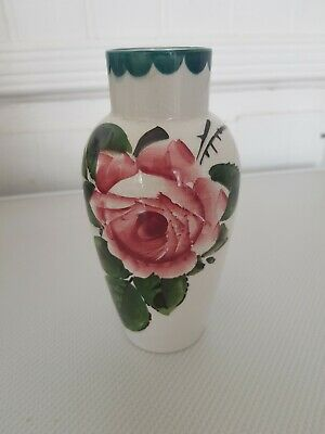 Wemyss Vase With Cabbage Rose Decor C1900 Impressed Stamp & Retailers Mark. • 295£