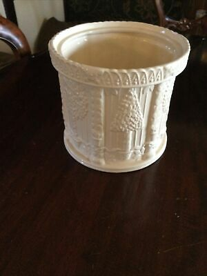 Vintage St Michael Lace Plant Pot Cream Marks And Spencer 17cm Tall, 18mm Wide • 4£