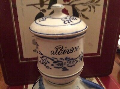 Quimper Faience Pottery Small Pot • 2.75£