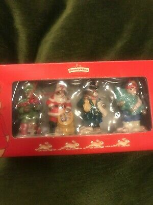 ROYAL DOULTON BUNNYKINS NEW IN BOX CHRISTMAS COLLECTION 4 Hanging Tree Decs • 39.99£