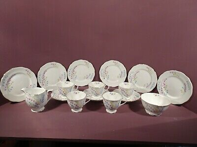 ***rare***vintage Royal Albert Lily Of The Valley Pattern, 17 Piece Part Tea Set • 75£