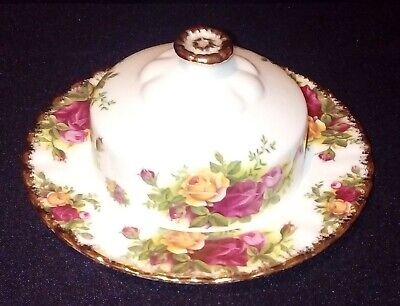 Royal Albert Old Country Roses Rare Lidded Butter / Cheese Dish Good Condition • 19.99£