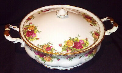Royal Albert Old Country Roses Lidded  Vegatable Tureen Good Condition • 34£