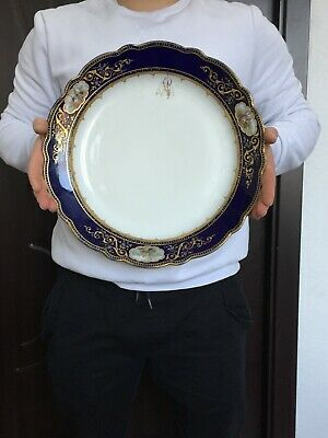 ANTIQUE LARGE MEISSEN PORCELAIN PLATE 19th VERY NICE LARGE • 8.50£