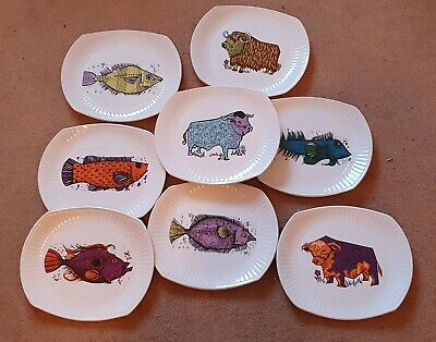 English Ironstone Pottery Plates.Beefeater And Aquarius • 45£