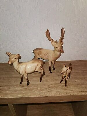 Beswick Deer Family, Stag Doe And Fawn  Black Stamp • 50£