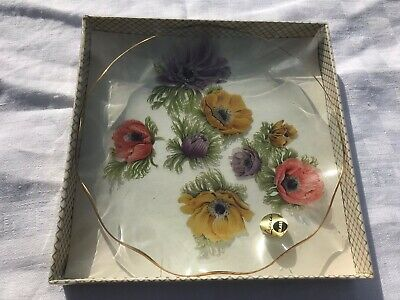Chance Glass  Retro Foral Plate • 8£