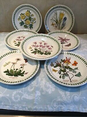 Portmerion Botanic Garden Side Plates X 7. Approx Width 7 Inches • 13.50£
