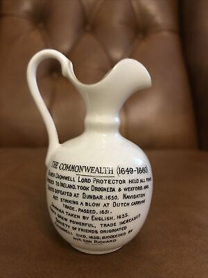 Goss Type Crested China Arcadian Jug Commonwealth Oliver Cromwell • 5.50£