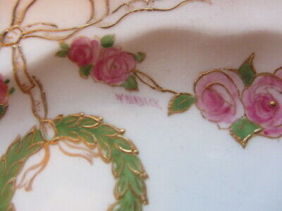 W Birbeck For George Jones Crescent China 1890 - Signed Rose Garland Plate RARE • 12.50£