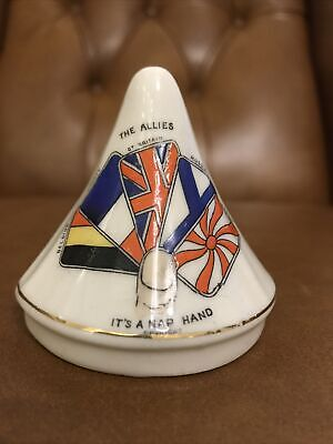 Goss Type Crested China Carlton Military Bungalow The Allies Its A Nap Hand • 38.02£