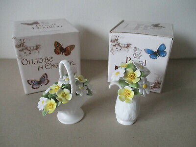 Royal Doulton 'Oh To Be In England Flower'  Basket & Vase Original Boxes • 14.50£