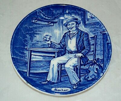 Vintage Old Chelsea Furnivals Plate SAILOR Plate Reg 647812 • 5£