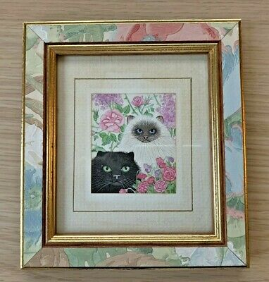 Sharon Jervis Miniature CAT Print From Watercolour  • 3.75£