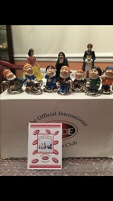 WADE Snow White And Seven Dwarfs Silver One Of Only 25 Box And Certificate Rare • 150£