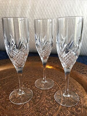 Crystal Champagne Flutes 8   High X 3 Glasses • 45£