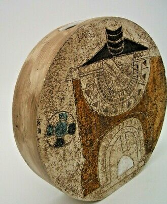 Early Troika Medium Wheel Vase Decorated By Sylvia Vallence (St Ives) • 495£