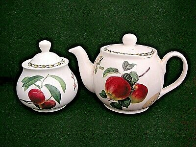 Queen's Chatsford Fine China 1 Pint Teapot & Sugar Bowl   Hookers Fruit  • 18.99£