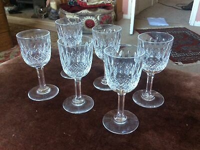 6 Lead Crystal Sherry Glasses • 9.99£
