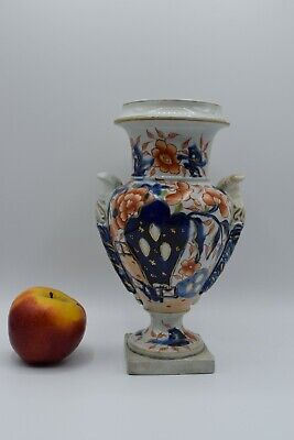 Antique British MASON'S IRONSTONE URN CHINA VASE IMPERIAL PORCELAIN 19th Century • 10£