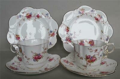 Pair Aynsley Dainty Roses  Trios- Cups/saucers/plates • 49.99£